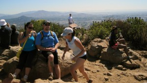 The view at Cowles Mountain Summit