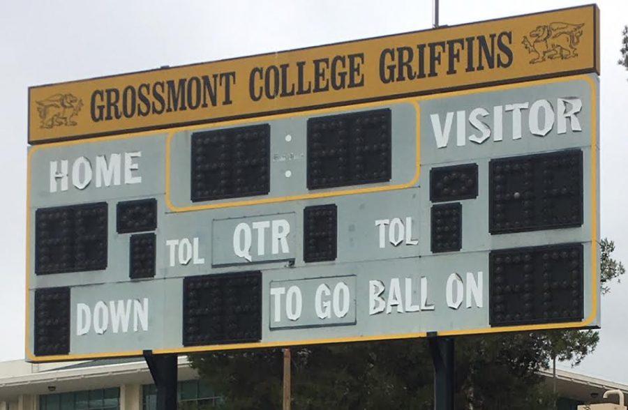Before Remodel: Scoreboard, non-operational. Photo taken: 09/2018