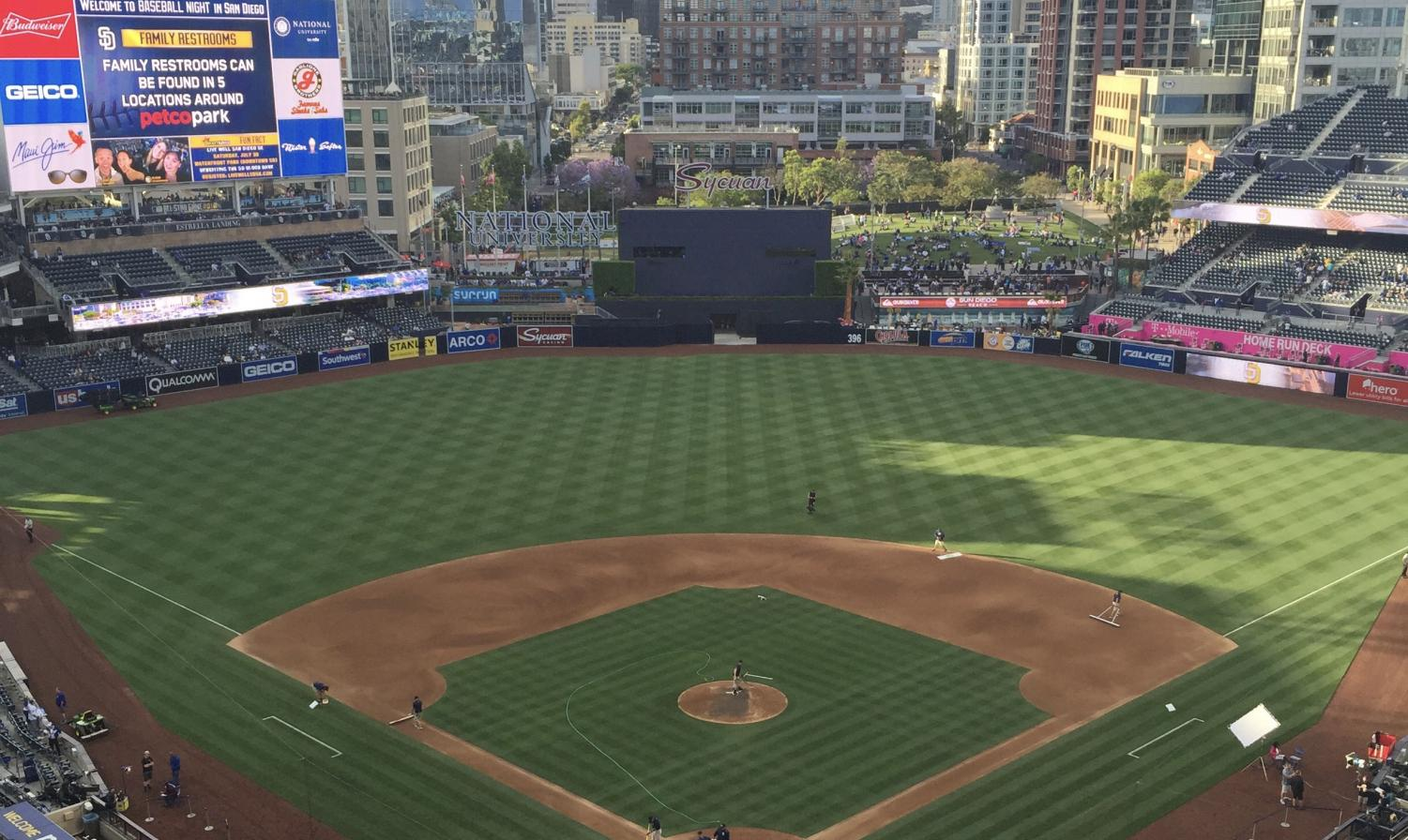 Petco Park on Padres opening day.