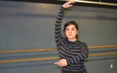 Dancer Tiffany Martinez Delgado practices for touring shows.