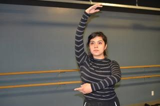 Dancer Tiffany Martinez Delgado practices for touring shows.