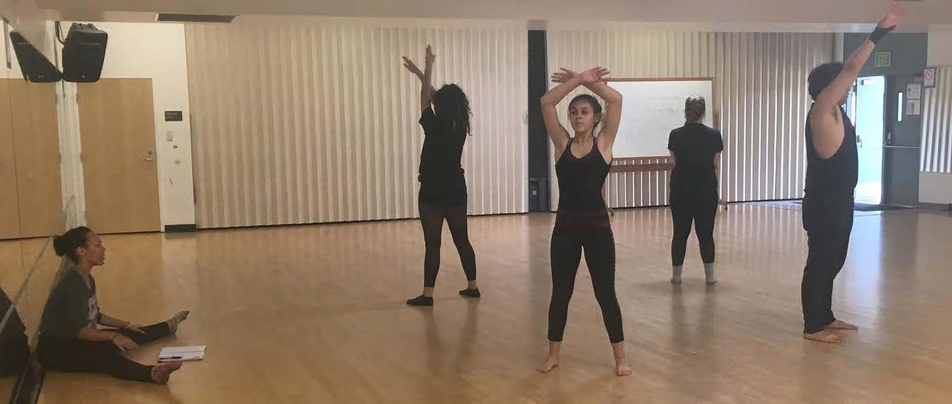 The dancers rehearse for the Fall concert.