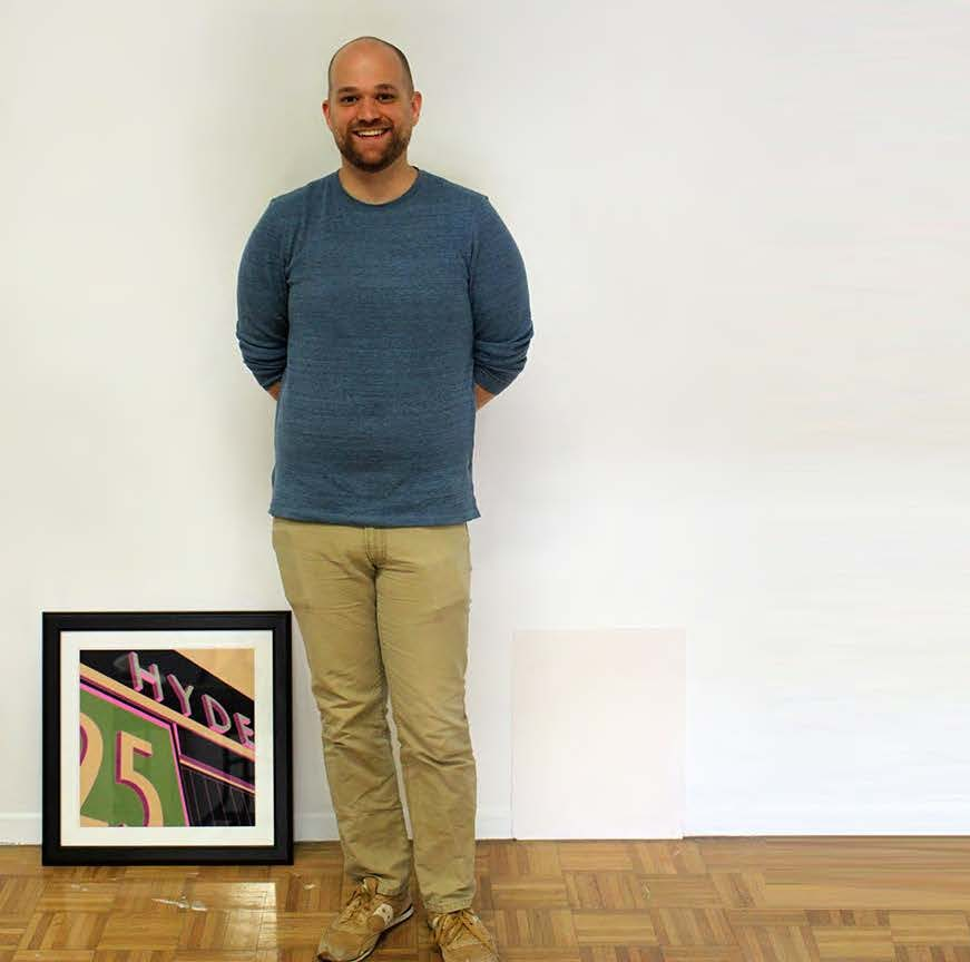 Alex DeCosta in Hyde Gallery.