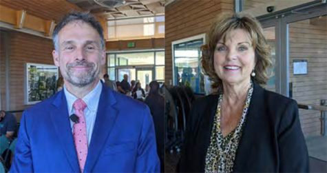 Finalists for Chancellor: Dr. David Potash (left) and Dr. Lynn Neault (right).