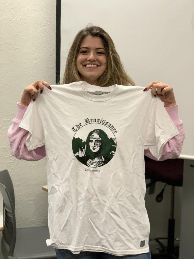 Vice president of Circle K club, Giovanna Douek with the new uniform.