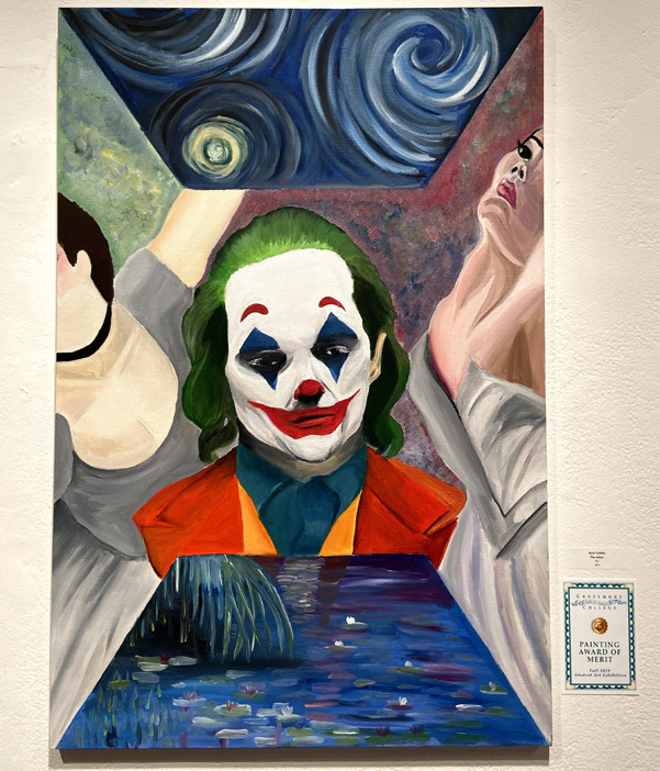The Joker oil painting by Jarol Valdez.